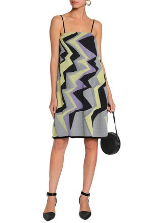M MISSONI Metallic jacquard-knit mini dress