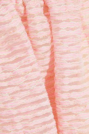 REDValentino Metallic embroidered organza skirt