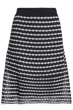 M MISSONI Flared crochet-knit cotton-blend skirt