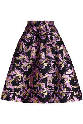 BAUM UND PFERDGARTEN Flared metallic jacquard midi skirt