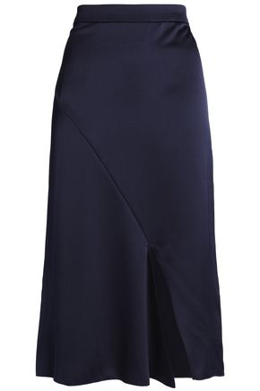 TIBI Satin-crepe midi skirt