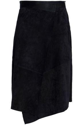 AMANDA WAKELEY Two-tone suede skirt