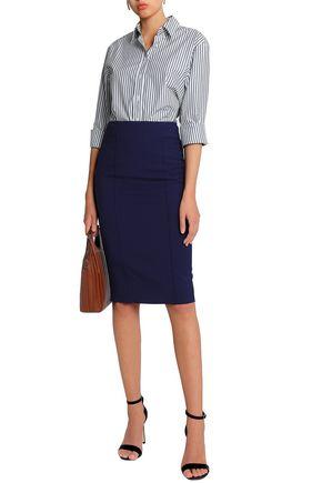 AMANDA WAKELEY Zip-detailed ponte pencil skirt