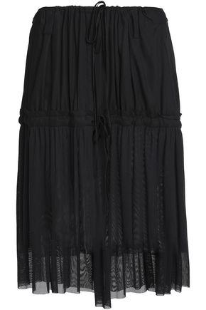ANN DEMEULEMEESTER Paneled tulle and crepe skirt