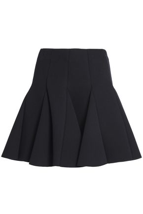 RED VALENTINO | Redvalentino Pleated Neoprene Mini Skirt | Goxip