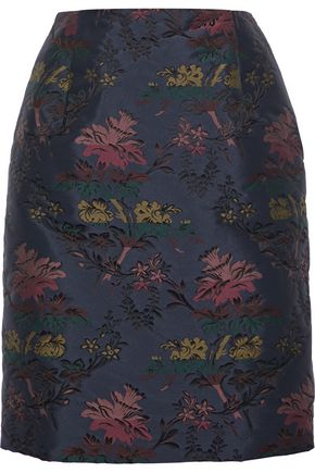 OSCAR DE LA RENTA Jacquard pencil skirt