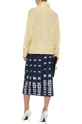 ADAM LIPPES Bleached denim midi skirt