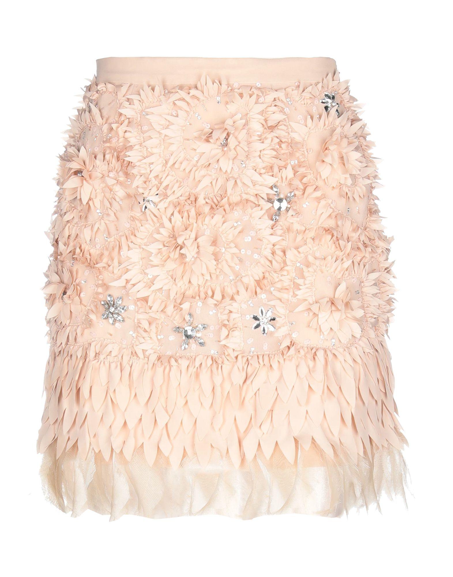 《期間限定セール中》ELISABETTA FRANCHI GOLD レディース ひざ丈スカート サンド 42 100% ポリエステル