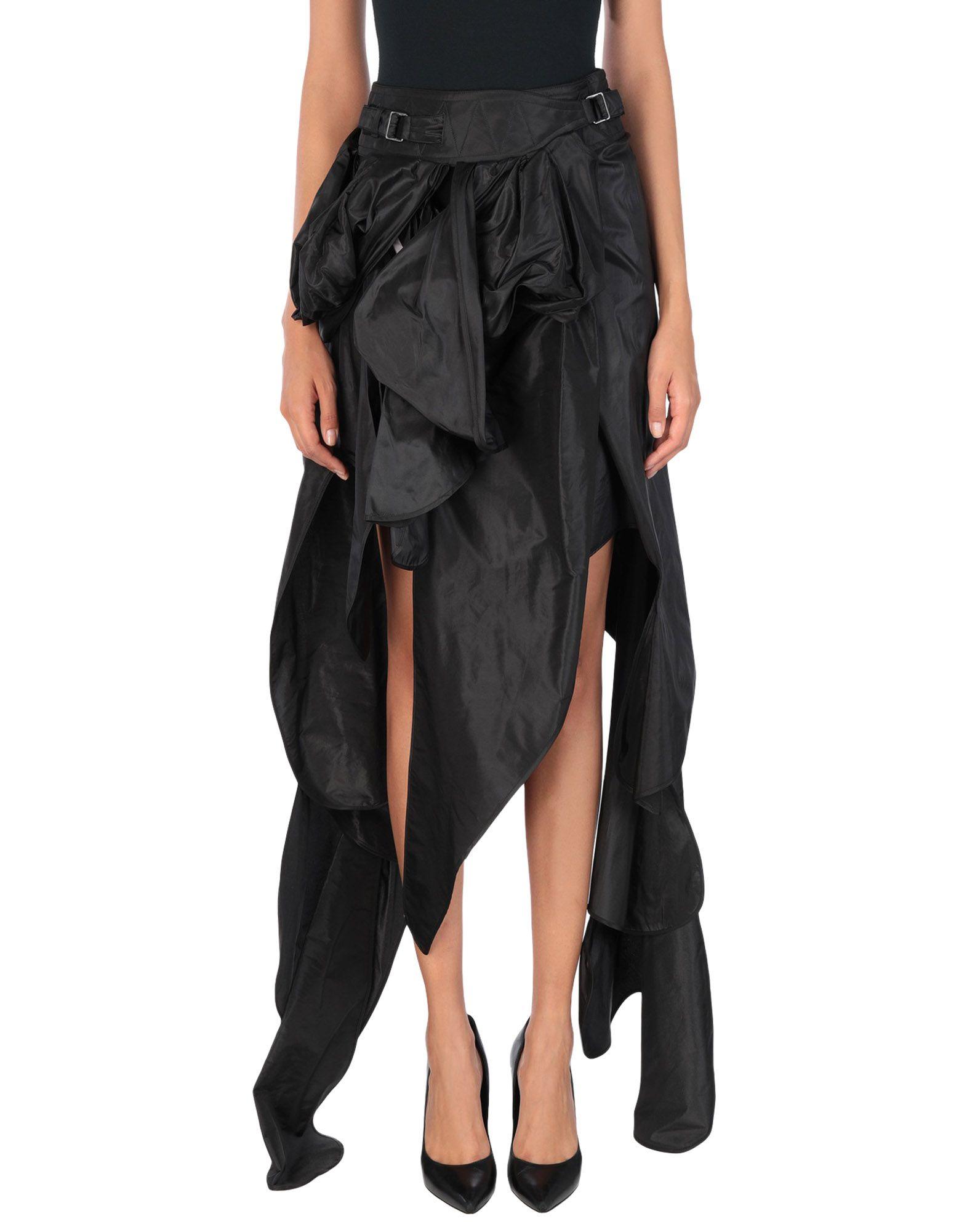 《送料無料》ANDREAS KRONTHALER for VIVIENNE WESTWOOD レディース ロングスカート ブラック I シルク 100%