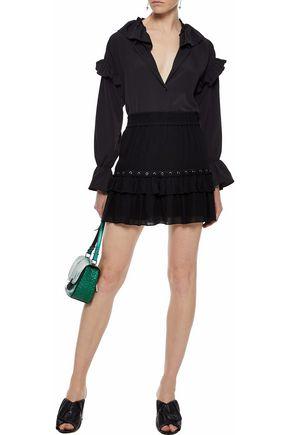 REBECCA MINKOFF Sydney eyelet-embellished gauze mini skirt