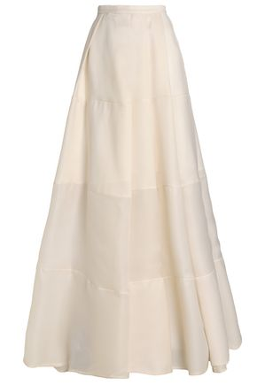 Paneled Silk Orgnaza Maxi Skirt by Rachel Gilbert