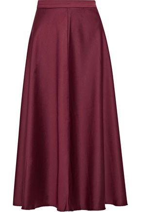 IRIS & INK Bianca duchesse-satin midi skirt