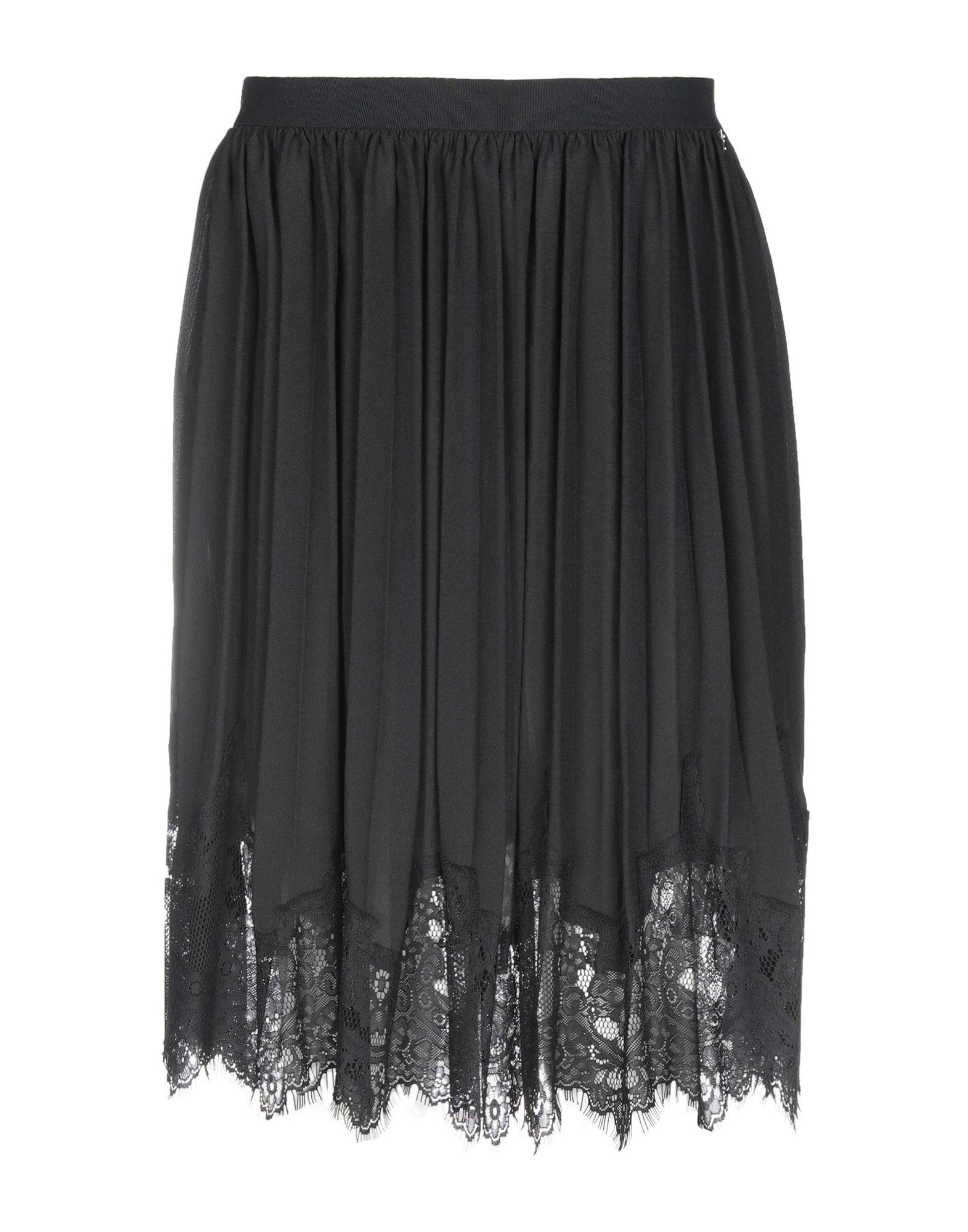 TWIN-SET LINGERIE Юбка до колена sexy black lace lingerie set with no falsies