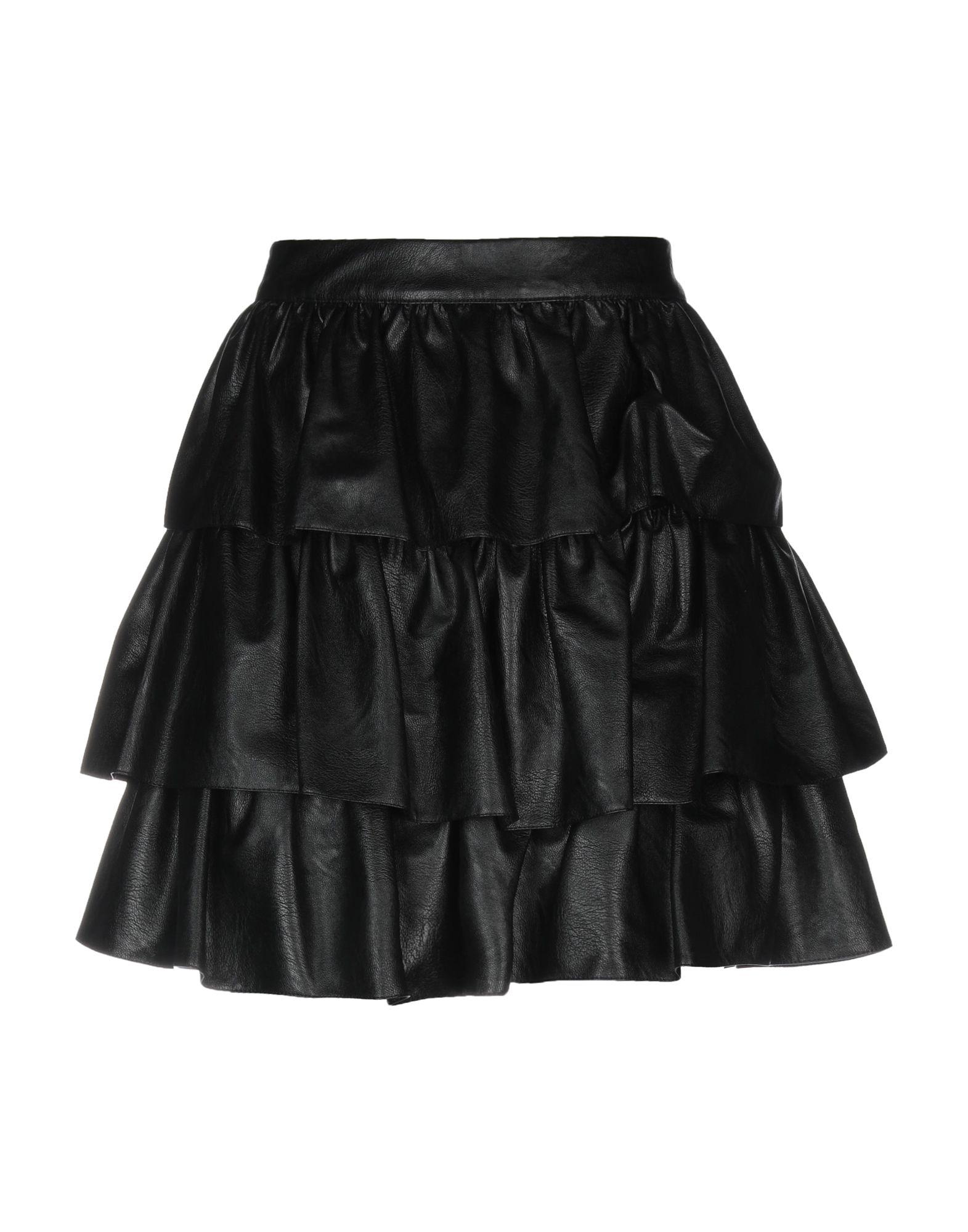 《送料無料》STELLA McCARTNEY レディース ミニスカート ブラック 40 レーヨン 100%