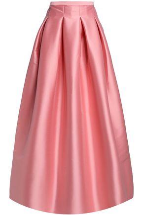 SACHIN & BABI Kennedy pleated satin-twill maxi skirt