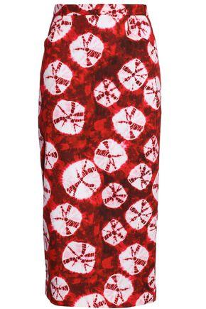STELLA JEAN Tie-dyed cotton midi skirt