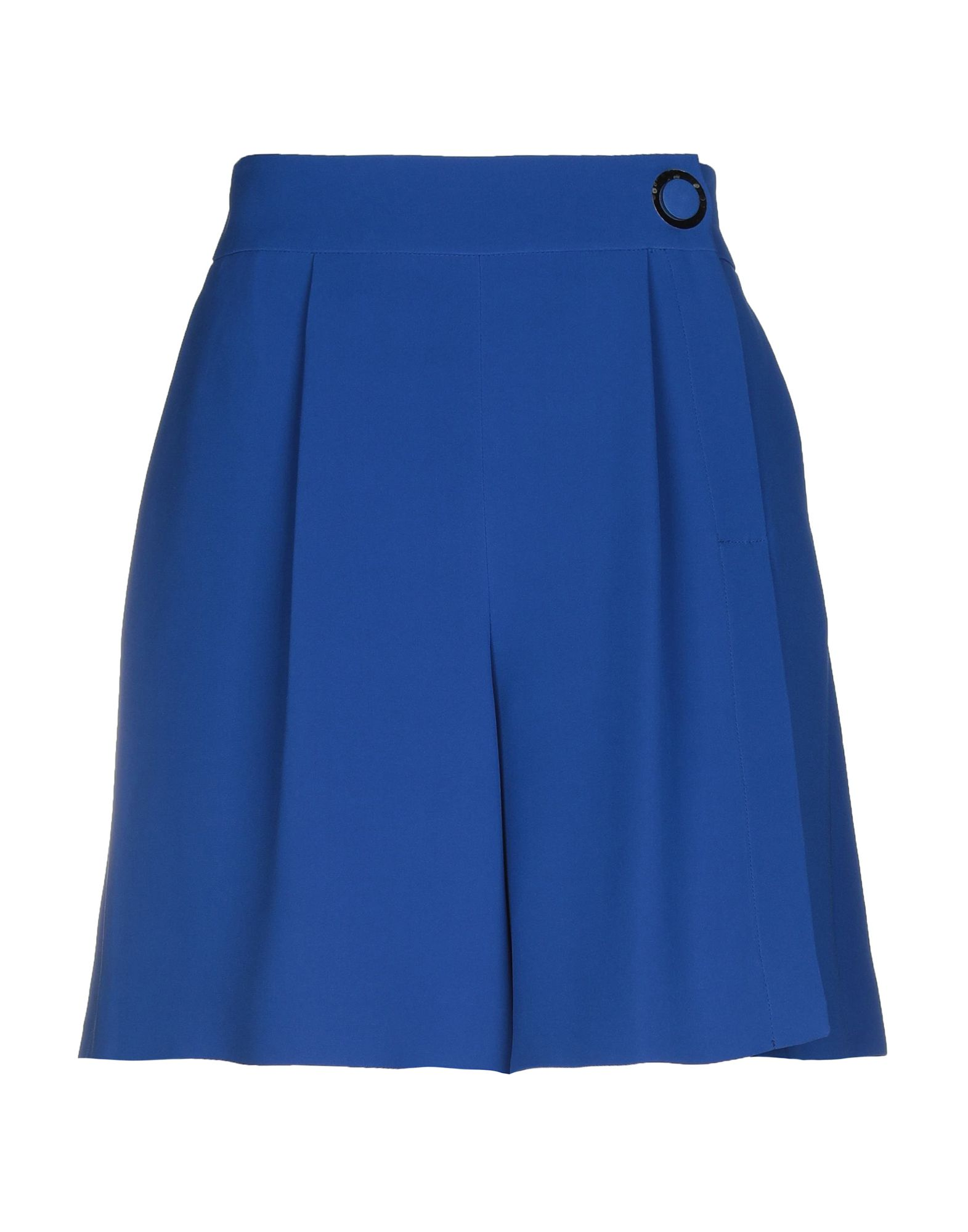 GIORGIO ARMANI Mini skirts. crepe, no appliqués, solid color, mid rise, multipockets, front closure, snap-buttons, zip, divided skirt, large sized. 100% Silk