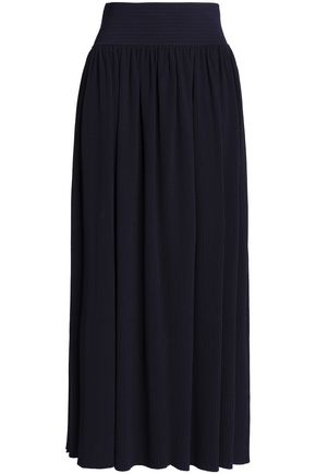 GENTRYPORTOFINO Ribbed-knit maxi skirt