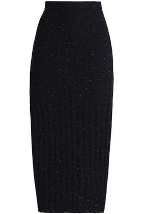 GENTRYPORTOFINO Donegal wool midi skirt