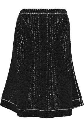 HERVÉ LÉGER Flared bouclé-knit skirt