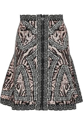 HERVÉ LÉGER Veda jacquard-knit mini skirt