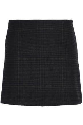 VANESSA BRUNO ATHE' Checked wool-blend mini skirt