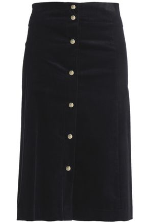 VANESSA BRUNO Cotton-blend corduroy skirt