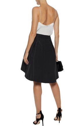 CAROLINA HERRERA Pleated silk-faille skirt
