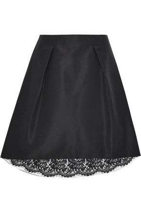 CAROLINA HERRERA Pleated silk-faille skirt