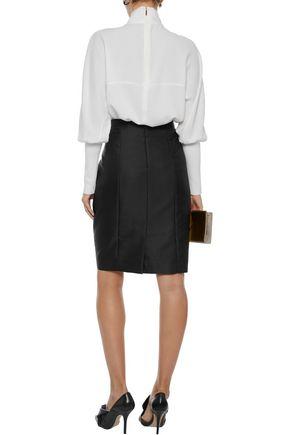 CAROLINA HERRERA Duchesse-satin pencil skirt