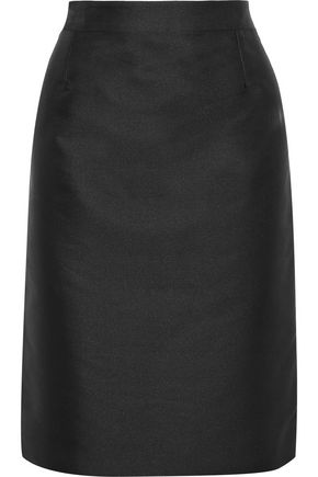 CAROLINA HERRERA Duchesse-satin pencil skirt