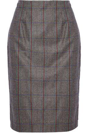CAROLINA HERRERA Checked wool skirt