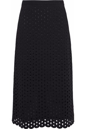 DEREK LAM Cutout stretch-knit skirt