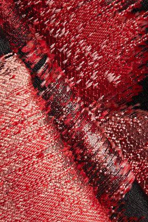 CAROLINA HERRERA Pleated jacquard maxi skirt