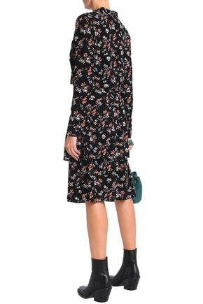 VANESSA BRUNO ATHE' Tiered floral-print crepe de chine skirt