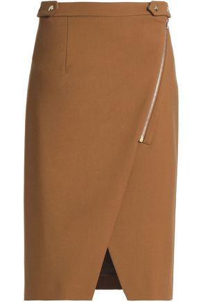 VANESSA BRUNO Wool-blend wrap skirt