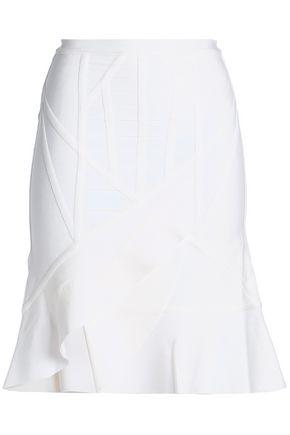 HERVÉ LÉGER Wrap-effect fluted bandage skirt