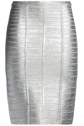 HERVÉ LÉGER メタリック バンデージ スカート