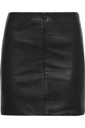 MUUBAA Textured-leather mini skirt