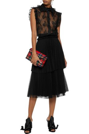 CHRISTOPHER KANE Tiered pleated point d'esprit skirt