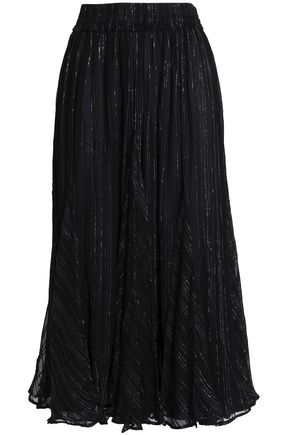 DODO BAR OR Metallic crepon midi skirt