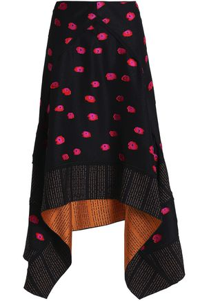 PROENZA SCHOULER Asymmetric fil coupé jacquard skirt