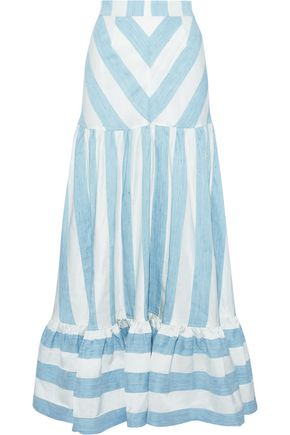 PAPER London Marianne striped woven maxi skirt