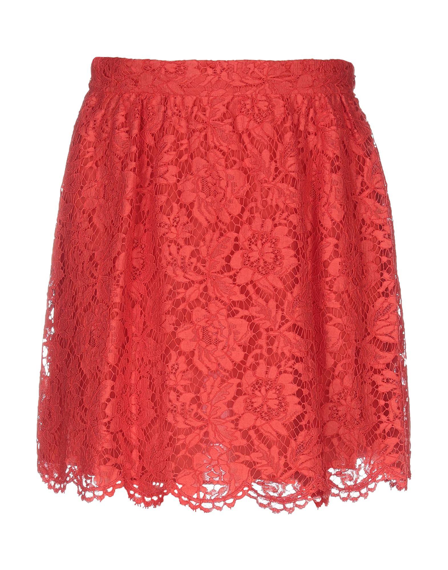 VALENTINO Юбка до колена valentino юбка с цветочной аппликацией