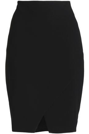 ELIE TAHARI Manders wrap-effect crepe pencil skirt