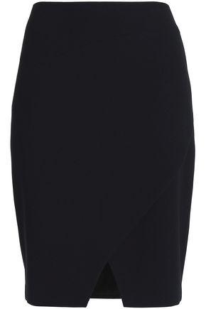 ELIE TAHARI Manders wrap-effect crepe pencil skirt