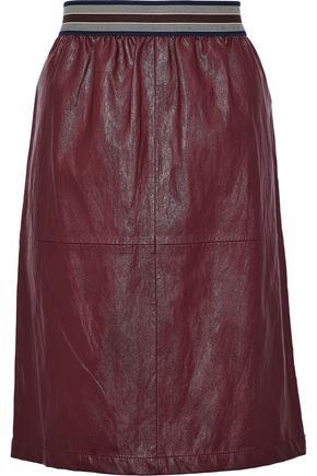 VANESSA BRUNO ATHE' Faux leather skirt