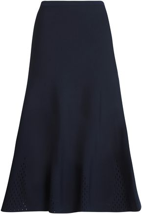 SANDRO Shane stretch-knit midi skirt