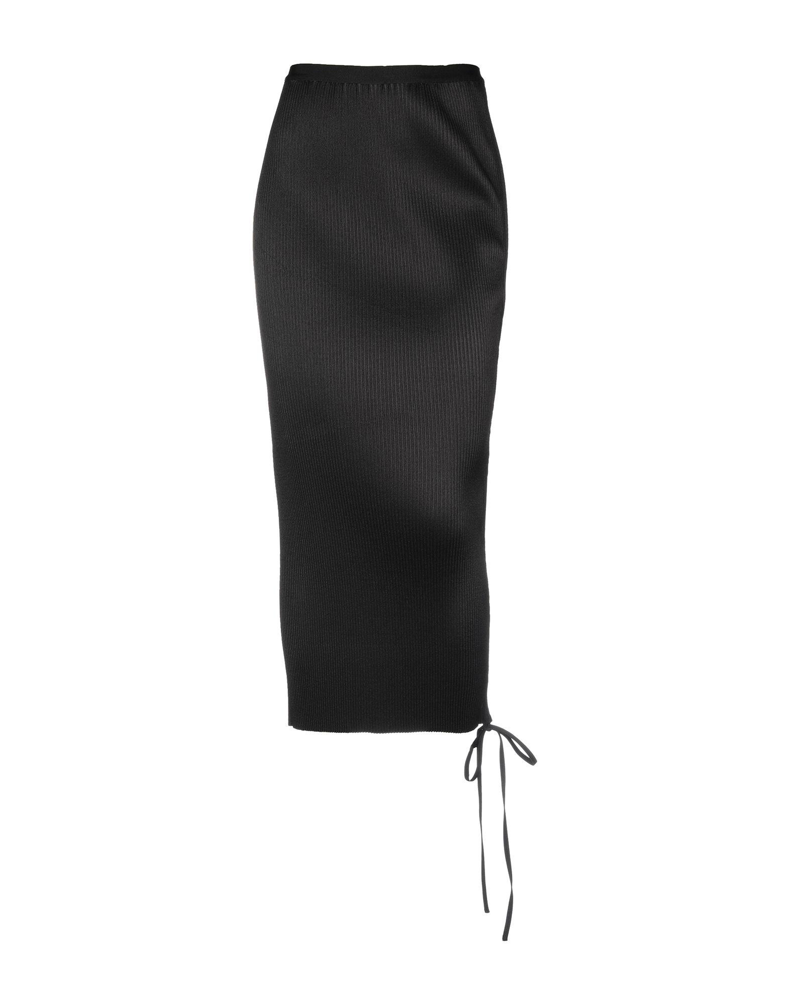 《送料無料》CASASOLA レディース 7分丈スカート ブラック 40 ポリエステル 100%