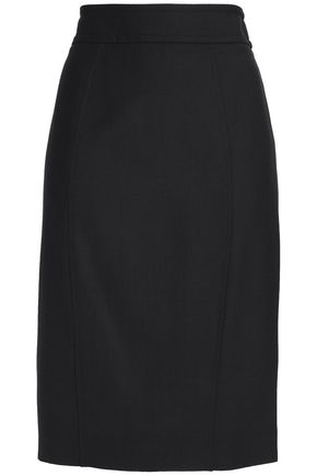 CAROLINA HERRERA Mohair-blend twill skirt